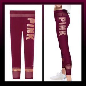 Victoria Secret pink mesh leggings